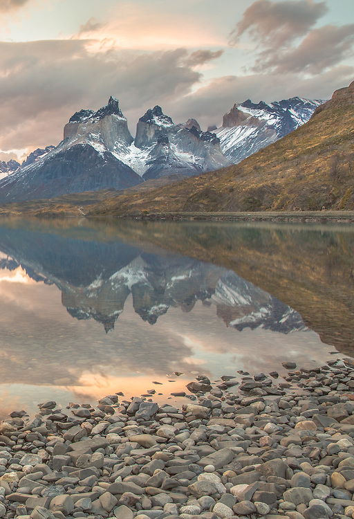 A timeless moment that found a home in my heart.  This image was taken at Pehoe Lake Patagonia's Torres del Paine National Park.
