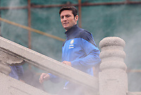 Argentine football star Javier Zanetti is pictured during his visit to the Yellow Crane Tower ahead of the 2014 China-Italy The Football Legends Challenge Match in Wuhan city, central China's Hubei province, 17 October 2014.<br /> <br /> Javier Zanetti led Inter Milan legends to visit the Yellow Crane Tower in Wuhan city, central Chinas Hubei province, on Friday (17 October 2014). The 2014 China-Italy The Football Legends Challenge Match will kick off on Sunday.