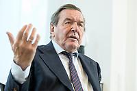 11 DEC 2019, HANNOVER/GERMANY:<br /> Gerhard Schroeder, SPD, Bundeskanzler a.D., waehrend einem Interview, im Buero seiner Anwaltskanzlei<br /> IMAGE: 20191211-01-025<br /> KEYWORDS: Gerhard Schröder, Büro