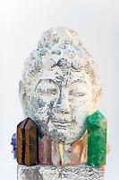 Crystal Buddha Spiritual Meditation Visuddha Chakra