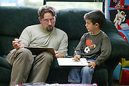 One-on-one work with student at Seabury School, Tacoma, WA.  (Photo/John Froschauer)