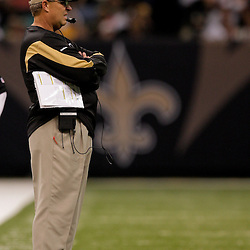 2009 September 13: New Orleans Saints defensive coordinator Gregg Williams on the sideline during a 45-27 win by the New Orleans Saints over the Detroit Lions at the Louisiana Superdome in New Orleans, Louisiana.