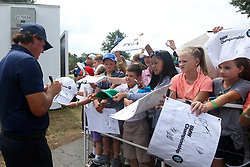 September 7, 2018 - Newtown Square, Pennsylvania, United States - Phil Mickelson signs autographs after the second round of the 2018 BMW Championship. (Credit Image: © Debby Wong/ZUMA Wire)