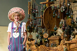 © Licensed to London News Pictures. 20/08/2020. London, UK. British artist GRAYSON PERRY unveils a previously unseen edition of his artwork the Tomb of the Unknown Craftsman at the British Museum, which visitors will be able to see when the Museum reopens on Thursday 27th August. The Tomb is an elaborate, richly decorated cast-iron coffin-ship and will be displayed alongside the striking 2,400-year-old Nereid Monument. Photo credit: Ray Tang/LNP