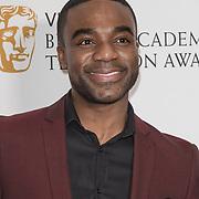 Ore Oduba attend the Virgin TV BAFTA TV Nominations Press Conference, London, UK - 04 April 2018 at BAFTA, Piccadilly, London, UK.