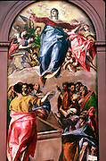 SPAIN, MUSEUMS Painting by El Greco 'Assumption of the Virgin' from Art Institute of Chicago