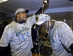 Lenny Harris, Dontrelle Willis, and the Florida Marlins win, 2003