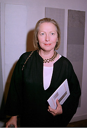 Writer SARAH BRADFORD she is Lady Bangor,  at an exhibition in London on 31st July 1997.MAT 29