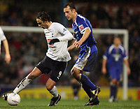 Photo: Rich Eaton.<br /> <br /> Cardiff City v Tottenham Hotspur. The FA Cup. 07/01/2007. Darren Purse right of Cardiff persues Dimitar Berbatov of Spurs