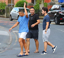 Manchester United's Alexis Sanchez leaves Cibo Restaurant in Wilmslow, Cheshire
