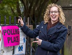Lorna Slater casts her vote, Edinburgh, 6 May 2021