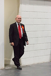© Licensed to London News Pictures. 12/06/2015. London, UK. Labour's JOHN BIGGS enters the count floor at at the Excel Centre in London. Lutfur Rahman was removed from office for fraud and corrupt practices by an election court earlier this year and the 2014 election was rerun as a result. Photo credit : Vickie Flores/LNP