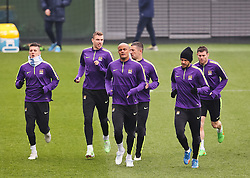 Manchester City's Vincent Kompany and his team mates are pictured during the training session at the Etihad Campus ahead of the UEFA Champions League second leg match against FC Barcelona - Photo mandatory by-line: Matt McNulty/JMP - Mobile: 07966 386802 - 17/03/2015 - SPORT - Football - Manchester - Etihad Campus - Barcelona v Manchester City - UEFA Champions League