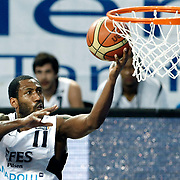Efes Pilsen's Bootsy THORNTON during their Turkish Basketball league match Efes Pilsen between Erdemir at the Sinan Erdem  Arena in Istanbul Turkey on Saturday 29 January 2011. Photo by TURKPIX