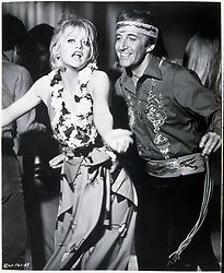 1970, Film Title: THERE'S A GIRL IN MY SOUP, Director: ROY BOULTING, Studio: COLUMBIA, Pictured: PARTY, 1970, GOLDIE HAWN, PETER SELLERS, DANCING, FANCY DRESS, COMEDY. (Credit Image: SNAP/ZUMAPRESS.com) (Credit Image: © SNAP/Entertainment Pictures/ZUMAPRESS.com)