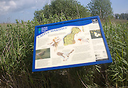 Castle marshes information board, Suffolk Wildlife Trust, near Barnby, Suffolk, England