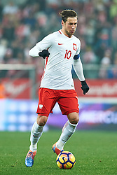Wroclaw, Poland - 2016 November 14: Grzegorz Krychowiak of Poland controls the ball during Poland v Slovenia - International Friendly Soccer Match at Municipal Stadium on November 14, 2016 in Wroclaw, Poland.<br /> <br /> Adam Nurkiewicz declares that he has no rights to the image of people at the photographs of his authorship.<br /> <br /> Picture also available in RAW (NEF) or TIFF format on special request.<br /> <br /> Any editorial, commercial or promotional use requires written permission from the author of image.<br /> <br /> Mandatory credit:<br /> Photo by © Adam Nurkiewicz / Mediasport
