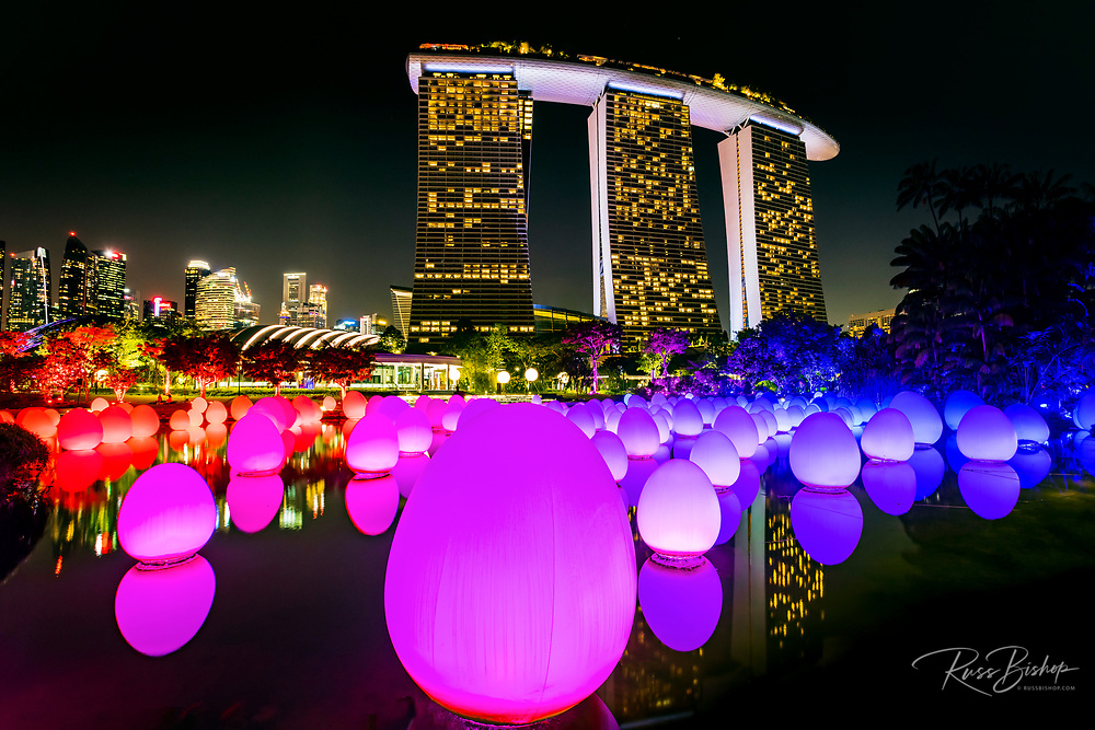 Future Together light show at Gardens by the Bay, Singapore, Republic of Singapore