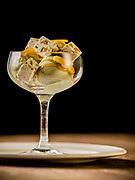 Pistachio Gelato with burnt orange carmel, pistachio nougat, and confit orange at Balena restaurant on Wednesday May 32, 2012.<br /> <br />  (William DeShazer/Chicago Tribune) B582123158Z.1<br /> ....OUTSIDE TRIBUNE CO.- NO MAGS,  NO SALES, NO INTERNET, NO TV, CHICAGO OUT, NO DIGITAL MANIPULATION...