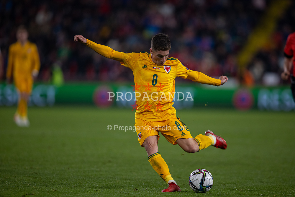 PRAGUE, CZECH REPUBLIC - Friday, October 8, 2021: Wales' Harry Wilson during the FIFA World Cup Qatar 2022 Qualifying Group E match between Czech Republic and Wales at the Sinobo Stadium. The game ended in a 2-2 draw. (Pic by David Rawcliffe/Propaganda)
