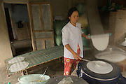 Making rice crackers, Hoi An suburb, Central Vietnam