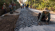 Road Construction, Shan Mountains, Mandalay, Myanmar