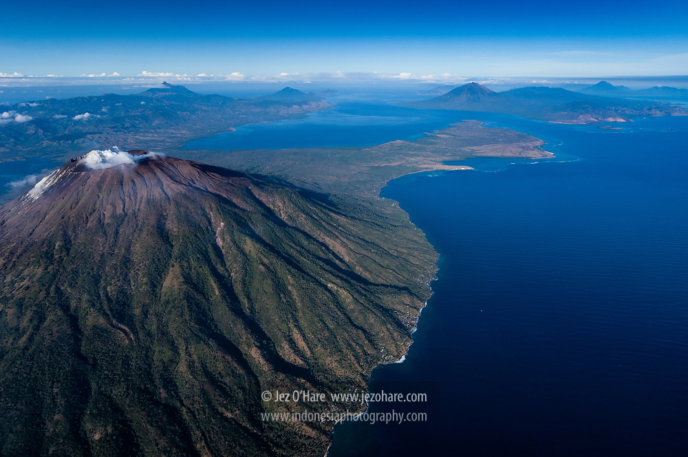 Mt. Ile Ape, Lembata, Nusa Tenggara Timur, Indonesia.