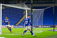 CELE Cardiff City's Harry Wilson (23) scores his side's second goal during the EFL Sky Bet Championship match between Cardiff City and Birmingham City at the Cardiff City Stadium, Cardiff, Wales on 16 December 2020.