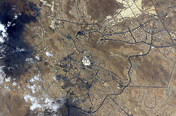 June 19, 2015 - Earth Atmosphere - Astronaut Scott Kelly posted this photo taken from the International Space Station to Twitter on September 23, 2015 with the caption, GoodMorning to the Holy City of Mecca Makkah! YearInSpace. (Credit Image: ? Scott Kelly/NASA via ZUMA Wire/ZUMAPRESS.com)