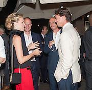 EVA HERZIGOVA; HARRY BLAIN; DINOS CHAPMAN; GREGORIO MARSIAJ, Dinner to celebrate the opening of the first Berluti lifestyle store hosted by Antoine Arnault and Marigay Mckee. Harrods. London. 5 September 2012.