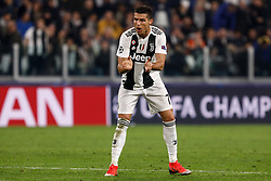 November 8, 2018 - Turin, Italy - Cristiano Ronaldo of Juventus gestures during the Group H match of the UEFA Champions League between Juventus FC and Manchester United FC on November 7, 2018 at Juventus Stadium in Turin, Italy. (Credit Image: © Mike Kireev/NurPhoto via ZUMA Press)