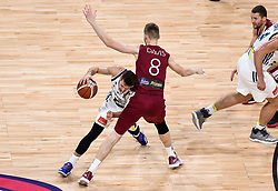 Goran Dragic of Slovenia vs Davis Bertans of Latvia during basketball match between National Teams of Slovenia and Latvia at Day 13 in Round of 16 of the FIBA EuroBasket 2017 at Sinan Erdem Dome in Istanbul, Turkey on September 12, 2017. Photo by Vid Ponikvar / Sportida