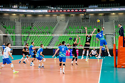 Mitja Gasparini of Slovenia during volleyball match between National teams of Slovenia and Portugal in 2nd Round of 2018 FIVB Volleyball Men's World Championship qualification, on May 26, 2017 in Arena Stozice, Ljubljana, Slovenia. Photo by Vid Ponikvar / Sportida