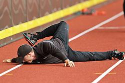 pole vaulter stretches