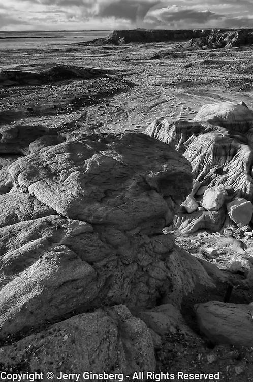 USA, AZ, Arizona, West, Southwest, Petrified Forest, The unique rock formations of Jasper Forest in Petrified Forest National Park, AZ.