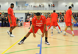 Bristol Flyers' Doug Herring warms up before tip off. - Photo mandatory by-line: Nizaam Jones- Mobile: 07583 387221 - 08/11/2014 - SPORT - Basketball - Bristol - SGS Wise Campus - Bristol Flyers  v Cheshire Phoenix - Sport