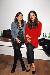 Left to right, CHARLOTTE CASIRAGHI daughter of Princess Caroline of Monoco and TATIANA SANTO DOMINGO close friend of Andrea Casiraghi