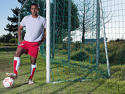 Aug. 22, 2012 - Footballer by goal (Credit Image: © Image Source/ZUMAPRESS.com)