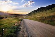 Montana Backroad near Fishtail, Montana.