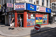 Dodo supermarket in Old Compton Street in Soho under coronavirus lockdown on 26th June 2020 in London, England, United Kingdom. As the July deadline approaces and government will relax its lockdown rules further, the West End remains quiet, while some non-essential shops are allowed to open with individual shops setting up social distancing systems.