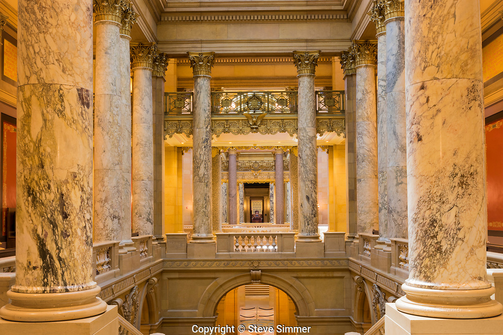 This is a view of the state Supreme Court chambers (through the door  ahead).