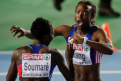 29.07.2010, Olympic Stadium, Barcelona, ESP, European Athletics Championships Barcelona 2010, im Bild Veronique Mang en Myriam Soumare FRA. GER EXPA Pictures © 2010, PhotoCredit: EXPA/ nph/ . Ronald Hoogendoorn+++++ ATTENTION - OUT OF GER +++++