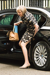 Downing Sreet, London, July14th 2015. Home Secretary Theresa May arrives at 10 Downing street for the government's weekly cabinet meeting.
