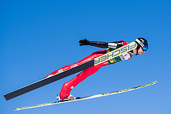 March 2, 2018 - Lahti, FINLAND - 180302 Espen BjÂ¿rnstad of Norway during a Ski jumping training session ahead of the FIS Nordic Combined World Cup on March 02, 2018 in Lahti. .Photo: Fredrik Varfjell / BILDBYRN / kod FV / 150068 (Credit Image: © Fredrik Varfjell/Bildbyran via ZUMA Press)