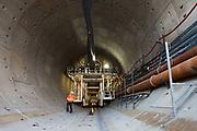 Begin van de Victory Boogie Woogie tunnel. De tunnelboor is nu geheel onder de grond.