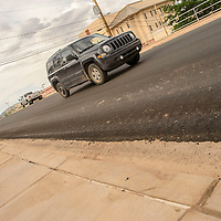 080615  Adron Gardner/Independent<br /> <br /> Traffic flows as construction improvements on College Drive Country near completion in Gallup Thursday.