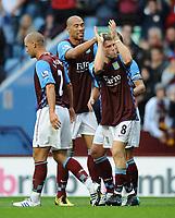 Football - Barclays Premier League - Aston Villa vs. West Ham <br /> Aston Villa's James Milner celebrates his goal with his team mates at Villa Park, Birmingham