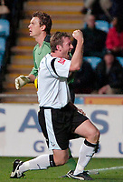 Photo: Ed Godden.<br />Coventry City v Derby County. Coca Cola Championship. 11/11/2006. Derby's match winner Steve Howard celebrates after his goal.