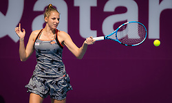 February 9, 2019 - Doha, QATAR - Kristyna Pliskova of the Czech Republic in action during qualifications for the 2019 Qatar Total Open WTA Premier tennis tournament (Credit Image: © AFP7 via ZUMA Wire)