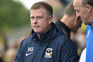 Coventry City manager Mark Robins during the EFL Sky Bet League 1 match between Oxford United and Coventry City at the Kassam Stadium, Oxford, England on 9 September 2018.